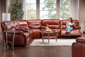 drake leather power reclining sectional