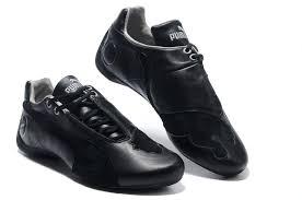 black leather pumas