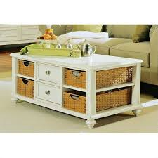 coffee table astonishing white rectangle rustic wood and wicker basket coffee tables with storage stained
