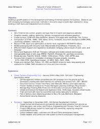 Testing Sample Resumes Sample Resume for software Tester Fresher Lovely Manual Testing 24