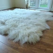 huge sheepskin rugs white rug natural p