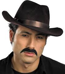 fake gangster mustache