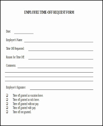 Time Off Request Form Pdf Pto Request Form Template Stanley Tretick