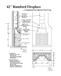 outdoor fireplace blueprints rumford fireplace plans instructions