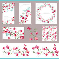 Floral Spring Templates With Sweet Peas Decorative Elements