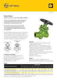 Catalogues Brochures Knowledge Centre L T Valves