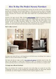 How to arrange nursery furniture Bedroom Furniture Yumpu Useful Tips For Purchasing Baby Nursery Furniture