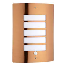 orleans copper outdoor wall light with pir motion sensor activated photocell biard orleans blss2cop a orlea