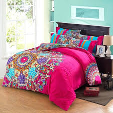 colorful queen comforter sets image of fuchsia comforter set fabric multi colored queen comforter sets
