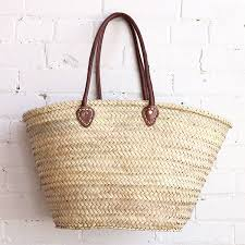 beach basket from morocco available at baba souk beach basket moroccan basket with leather handles