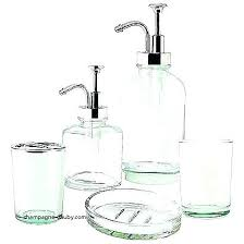 recycled glass bathroom accessories how to update your bath with soap dispensers sets silver accessory mercury