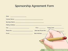 sponsorship agreement how to write a sponsorship contract with pictures wikihow