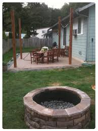 paver patio with fire pit. Unique Fire Pit Made From Pavers Cement Paver Patio With