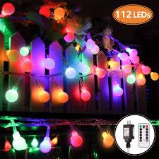 Colored String Lights Amazon Com Mofut Globe String Lights 55ft 112 Leds