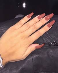 Solid Color Acrylic Nail Designs Pin By Abigail On Nail Ideas In 2020 Brown Acrylic Nails