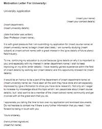 motivation letter format motivation letter for university sample just letter templates