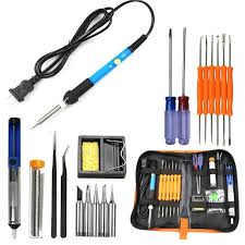 <b>Gocomma</b> 60W <b>Electric Soldering Iron</b> Welding Tool Kit Solder Wire ...