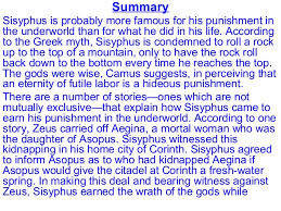 the myth of sisyphus 4 summary sisyphus