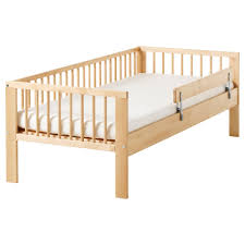 baby nursery kids bed frame with safety rails white wooden painted