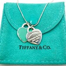 tiffany sterling silver return to tiffany small double heart tag necklace 803