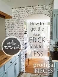 Diy Faux Brick Tutorial Budget Decor Prodigal Pieces