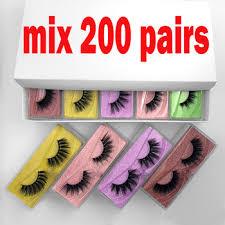 LEKOFO wholesale eyelashes 10/20/100/200 pairs Set 3D false eye ...