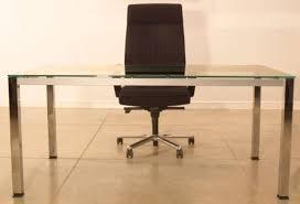 chrome office desk. glass office desk with chrome frame m