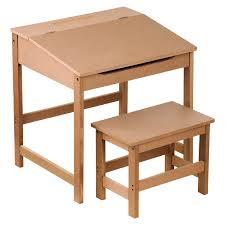 premier housewares children s desk and stool set natural co uk kitchen home