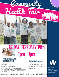 Health Fair Flyers Community Health Fair Template Postermywall