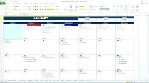 Interactive Calendar Template Interactive Calendar Excel Template Year In Full Monthly
