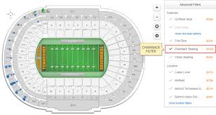 University Of Tennessee Seating Chart Do Any Of The Seats At Neyland Stadium Have Backs To Their