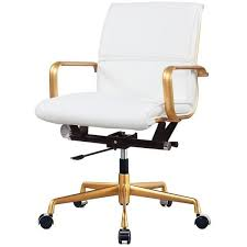 white and gold office chair. Fine Chair Rachel George White Vegan Leather Gold Office Chair Cushioned Featuring  Polyvore Home To And B