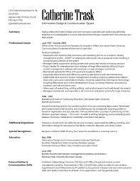 Media Resume Template Marketing Communication Specialist Resume Resumes Letters Media