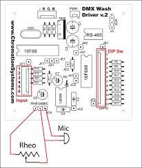 Dmx 512 Rgb Led Wash Light Control Board 12 Steps