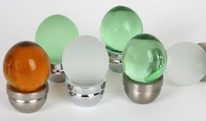 Round glass cabinet knobs Satin Nickel Acorn Glass Series Martell Hardware Acorn Glass Series Cabinet Knobs Drawer Knobs Lews Hardware
