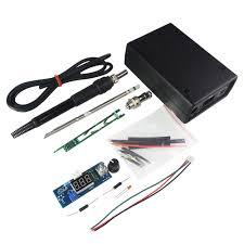 electric unit digital soldering iron station temperature controller kits for hakko t12 handle diy kits led vibration switch banggood com imall com