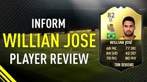 FIFA 17 INFORM WILLIAN JOSE (82) PLAYER REVIEW - YouTube
