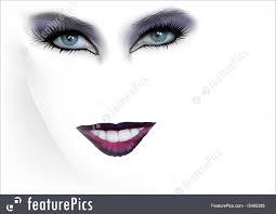woman fashion eyes makeup and red lips royalty free stock ilration