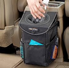 Amazon.com: High Road StashAway Console and Headrest Car Trash Can with Lid  (Black): Automotive