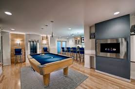 View in gallery Spacious billiards room ...