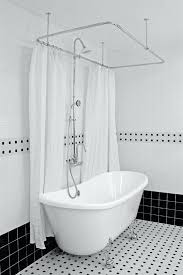 hlbt59shpk 59 hotel collection french bateau clawfoot tub and shower packshort curtain liner short