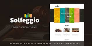Music Website Templates Adorable Solfeggio Music School Theme By Cmsmasters ThemeForest