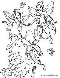 Small Picture Fairies flying in the wood coloring pages Hellokidscom