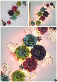 diy string light backlit canvas art ideas crafts light up 3d floral canvas on 3d flower wall canvas art with diy string light backlit canvas art ideas crafts light up 3d