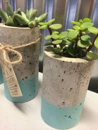 these concrete planters are designed for succulents or air plants each one is hand made