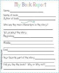 Biography Book Report Template Grade Awesome Form High School Middle