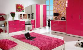 Small Bedroom For Teenage Girls Alluring Small Bedroom For Girls With Geometric Wallpaper Also