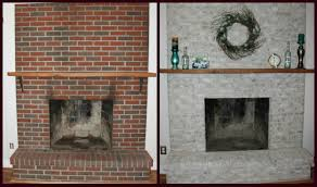 fireplace decorating painting brick fireplace ideas for