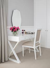 feminine desk accessories bedroom transitional with makeup table drawer and  vanities