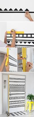 bedroom door decoration. DIY Washi Tape Decorating Projects -The Geometric Pattern Bedroom Door Decoration A
